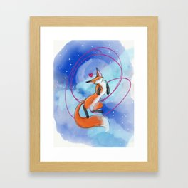 Felize Foxy Framed Art Print