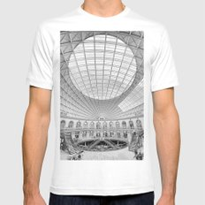 The Corn Exchange Interior In Monochrome MEDIUM White Mens Fitted Tee
