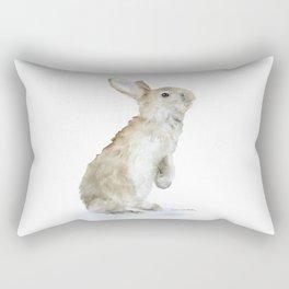 Bunny Rabbit Watercolor Rectangular Pillow