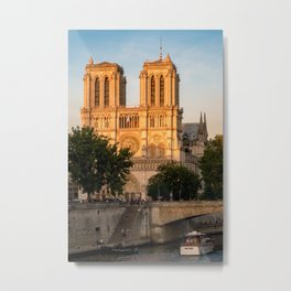 Notre Dame de Paris at Golden Hour - Paris, France Metal Print