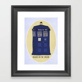 """Doctor Who: TARDIS - """"Bigger on the inside"""" Framed Art Print"""