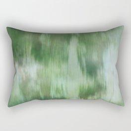 Green Fusion Illustration Digital Watercolor Camo Blend Fluid Art Rectangular Pillow