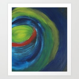 Out In Space 2 Abstract Art Art Print