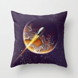 Tour the Universe - Sci fi poster Throw Pillow