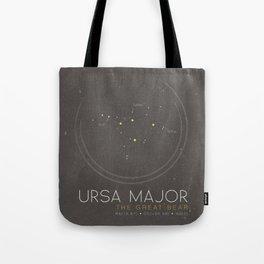 Ursa Major - The Great Bear Constellation Tote Bag
