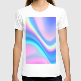 Iridescent Holographic Abstract Colorful Pattern T-shirt