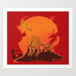 The Rise of the Zombie Apocalypse  Art Print