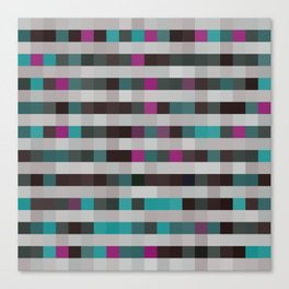 pixels pattern with colorful squares and stripes Canvas Print