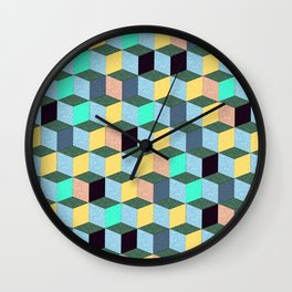 Cubic Plaything Wall Clock