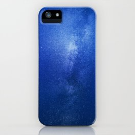 Looking up into the milkyway galaxy iPhone Case