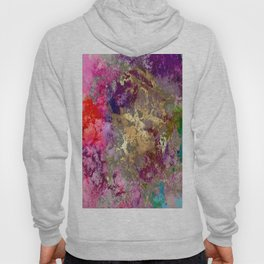 Galaxy, abstract, fire+ice gold accent Hoody