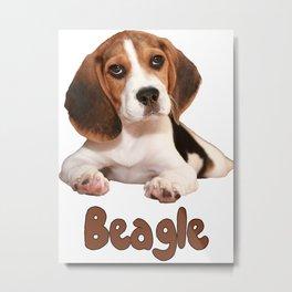 The Beagle Metal Print