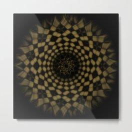 Golden Funnel Metal Print