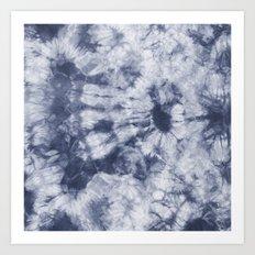 Tie Dye 3 Navy Art Print