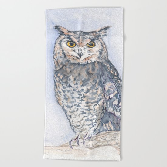 The Less He Spoke Beach Towel