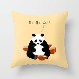 Oh My Gut! Throw Pillow