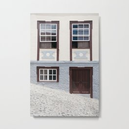 Building and street. La Palma, Canary Island. Metal Print