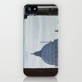 Saint Peter's Basilica framed by Domus Augustea iPhone Case