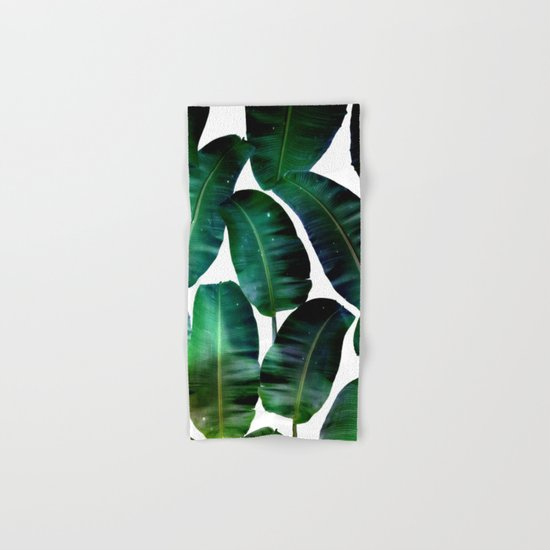 Cosmic Banana Leaves #society6 #decor #buyart Hand & Bath Towel