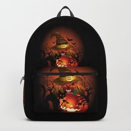 Skull Witch Creepy Halloween Backpack
