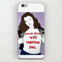 dick iPhone & iPod Skins featuring Dick by amykinkin