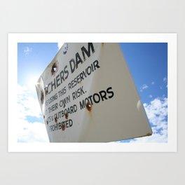 Butchers Dam #1 Art Print