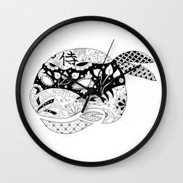 TMNT Leonardo B&W Wall Clock