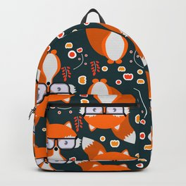 Hipster foxes Backpack