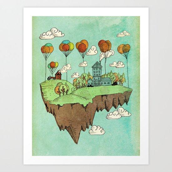 The Floating Farm Art Print