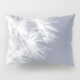 Sparkling dandelion with droplets - Flower water Pillow Sham