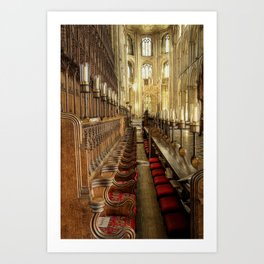 Peterborough Cathedral Pews Art Print