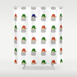 Gnome pattern - tribe of tomtes Shower Curtain