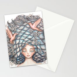 Claudette Head in the Clouds Stationery Cards