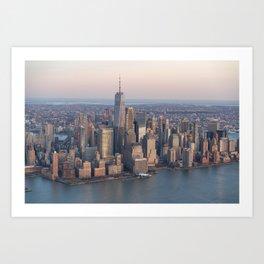 Manhattan from sky Art Print