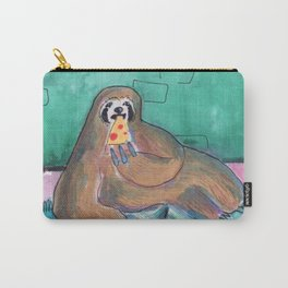 sloths pizza party Carry-All Pouch