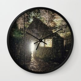 Leave a Light On Wall Clock
