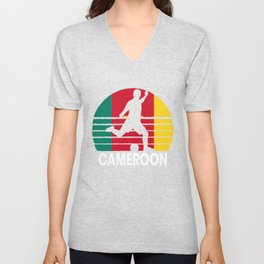 Cameroon Soccer Football CMR Unisex V-Neck