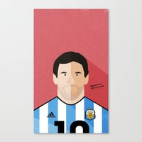 messi Canvas Prints featuring Messi by Mohammed Albassami