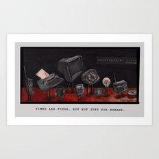 Unemployment Line. Art Print