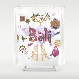 Drawings from Bali Shower Curtain