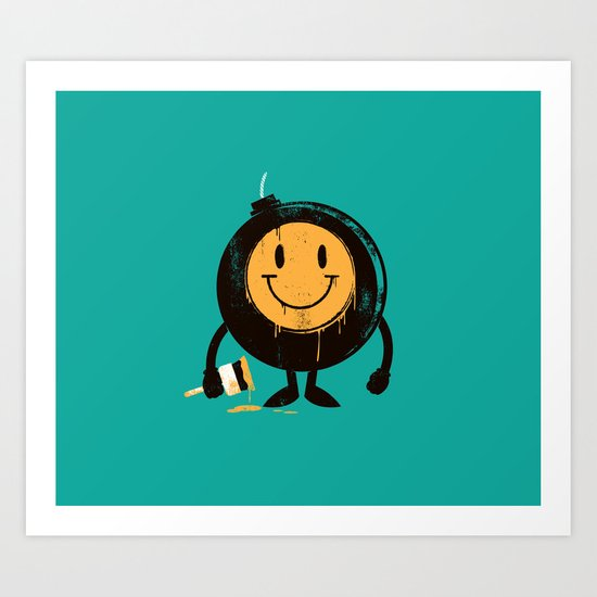 Happy buddy Art Print