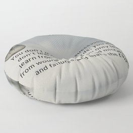 Jane Fonda Quote On Scars & Wounds Floor Pillow