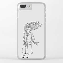 The girl in the windy city Clear iPhone Case