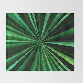 North Texas Green Sun Throw Blanket