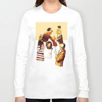 muppets Long Sleeve T-shirts featuring Bert & Ernie Muppets by joshuahillustration