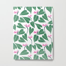 Tropical Forest Pattern Metal Print