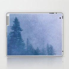Fog Forest - Blue Washington State Ridge Trees Mountain Misty Laptop & iPad Skin