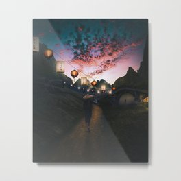 Hidden Village Artwork Metal Print