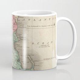 Vintage Map of New England (1829) Coffee Mug