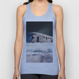 The Ghost Ship-Astronaut in an Abandoned Ship Unisex Tank Top